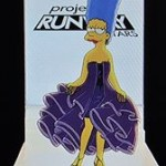 Marge Simpson's new dress: Winning design for the Project Runway challenge of 12-5-13.