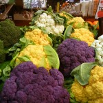 Colorful cauliflower at Reading Terminal Market, earlier this fall